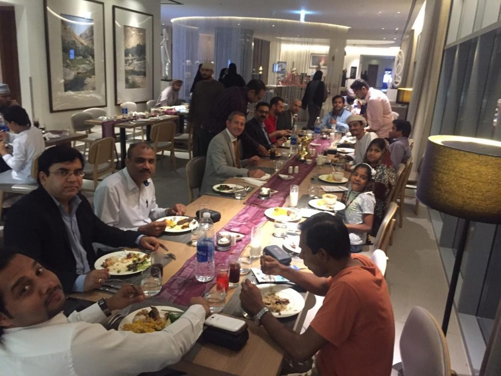 Moments from our Iftar in Oman