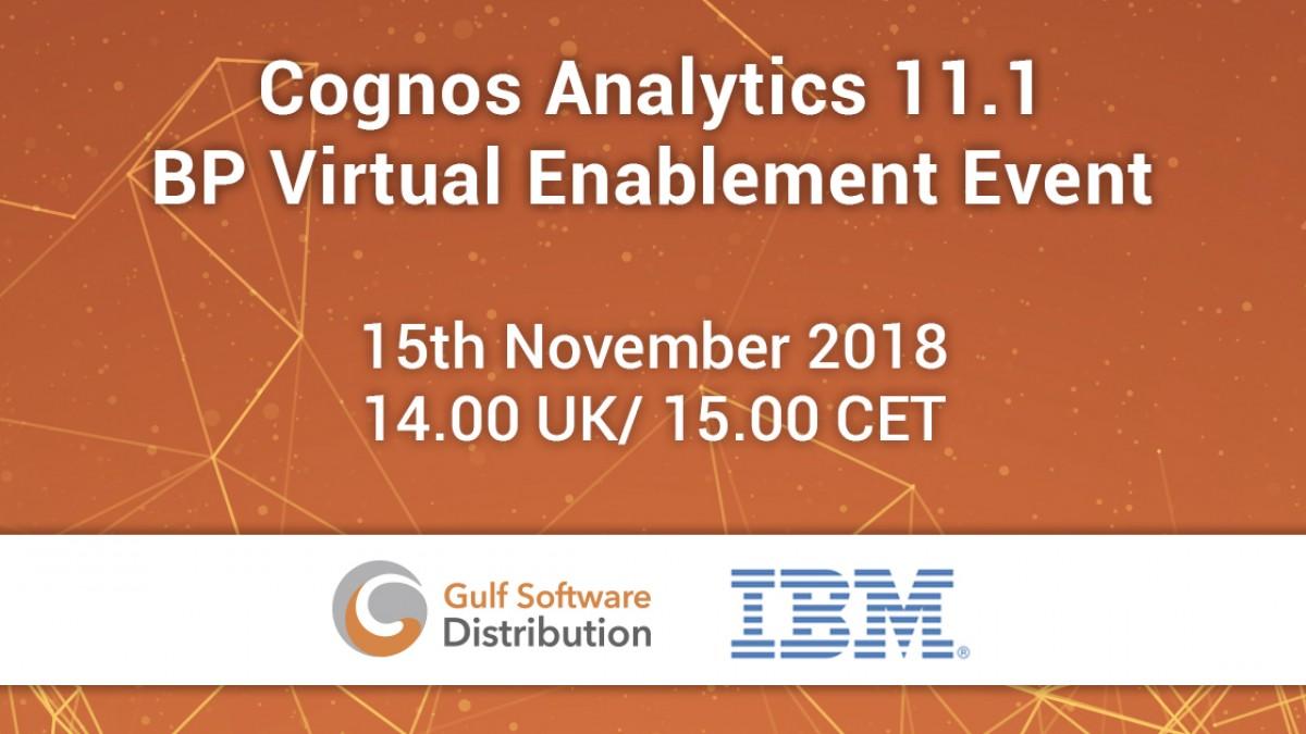 Cognos Analytics 11.1 - BP Virtual Enablement Event Facebook
